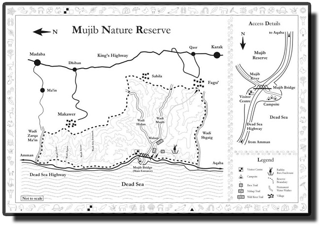 Map of Wadi al Mujib